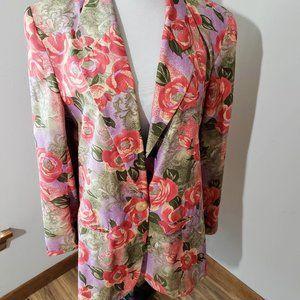 Vntg Pendleton SZ 14 colorful floral blazer!